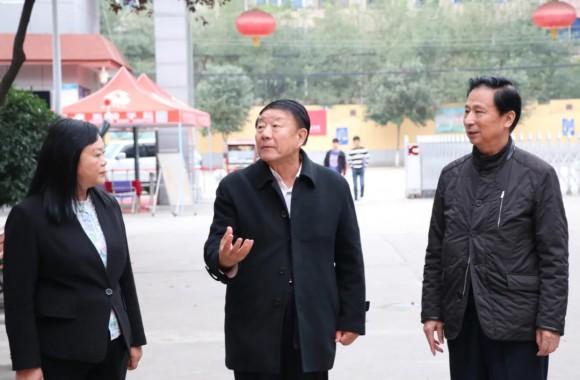 中国民办教育协会会长王佐书莅临hg888官方网址参观指导